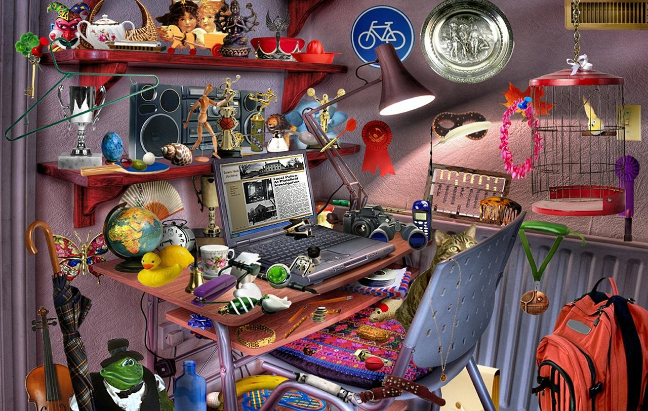 Blick auf einen Computer Arbeitsplatz zum spielen
