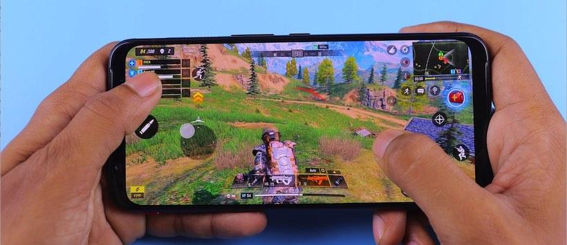 Spiele auf dem Handy spielen